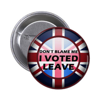 Don't blame me I voted Leave badge