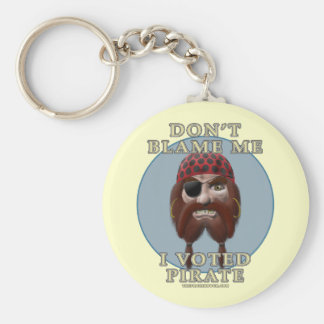 Don't Blame Me, I Voted Pirate Basic Round Button Key Ring