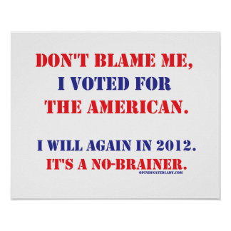 Don't Blame Me... Posters