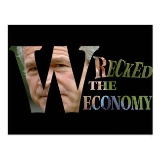 Don't Blame Obama W wrecked the Economy Postcard