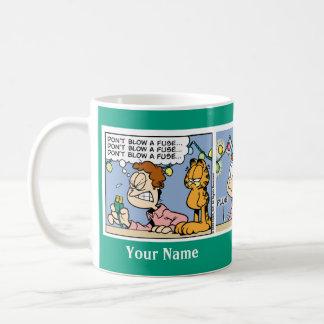 """Don't Blow a Fuse"" Garfield Comic Strip Mug"