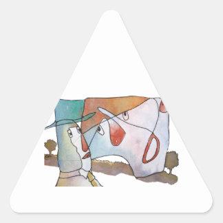 Don't Bore Me! Triangle Sticker