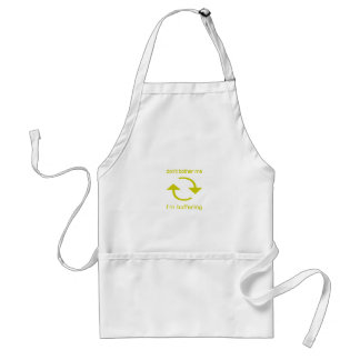 Don't Bother Me - I'm Buffering (yellow text) Standard Apron