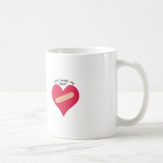 Dont Break Heart Coffee Mugs