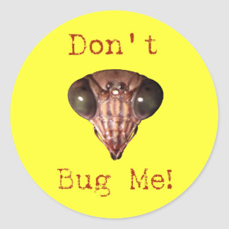 Don't Bug Me Classic Round Sticker