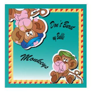 Don't Burst My Bubble Silly Monkeys Acrylic Print