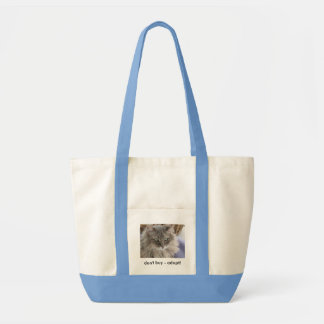 Don't buy - adopt tote impulse tote bag