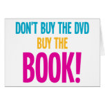 Don't Buy The DVD, Buy The Book Greeting Cards
