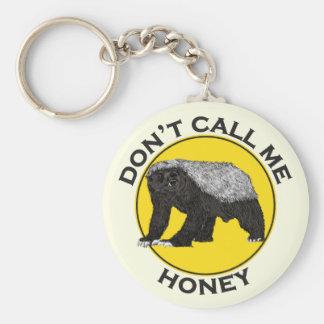 Don't Call Me Honey, Honey Badger Feminist Slogan Key Ring