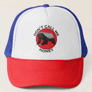 Don't Call Me Honey, Honey Badger Red Feminist Art Cap