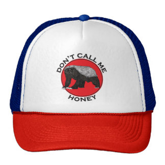 Don't Call Me Honey, Honey Badger Red Feminist Art Cap