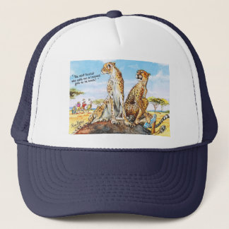 Don't call me leopard! trucker hat