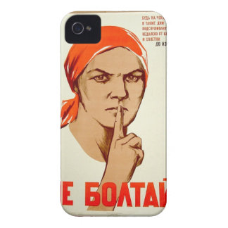 Don't chat! Chatting leads to treason iPhone 4 Case