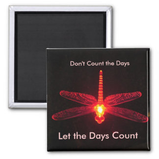 Don't Count the Days Square Magnet