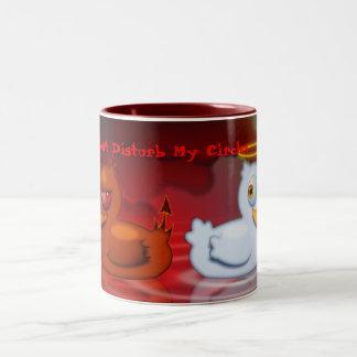 Don't Disturb My Circles Two-Tone Coffee Mug
