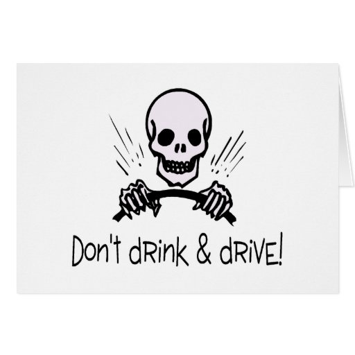 Dont Drink and Drive Card
