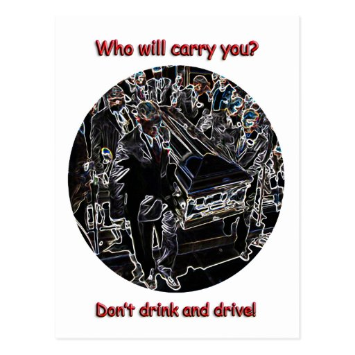 Don't drink and drive post card