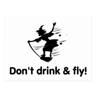 Dont Drink And Fly Post Card