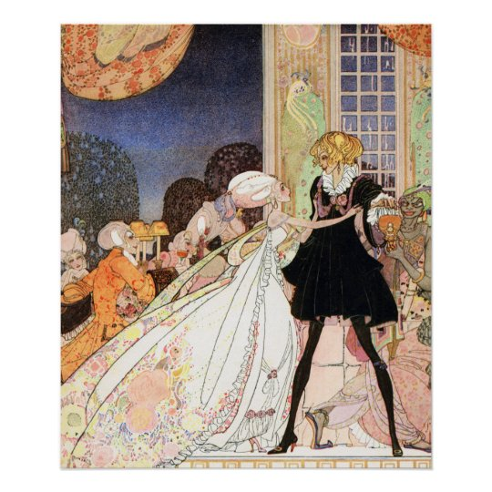 Don't drink! Art Nouveau by Kay Nielsen Poster