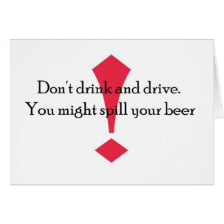 Dont Drink Card