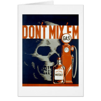 Don't Drink & Drive 1937 WPA Greeting Card