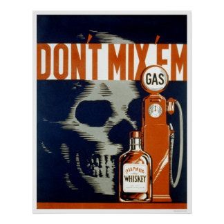 Don't Drink & Drive 1937 WPA Poster