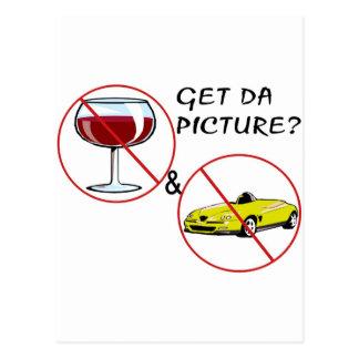 Don't Drink & Drive Postcard