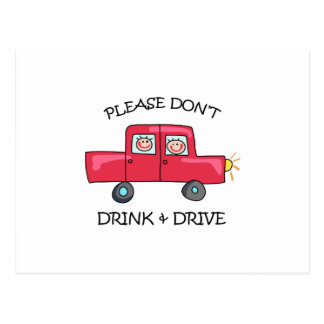 DONT DRINK & DRIVE POST CARDS