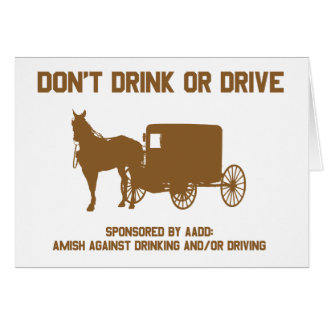 dont drink or drive4 greeting card