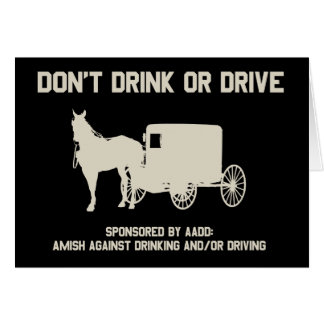 dont drink or drive greeting card