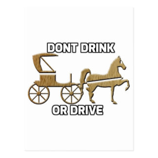 Don't Drink Or Drive Post Card