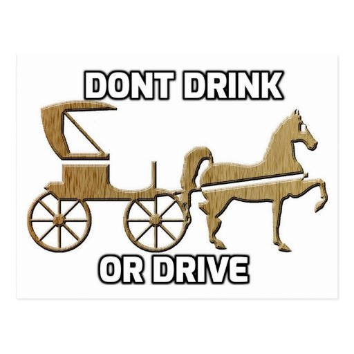 Don't Drink Or Drive Post Cards