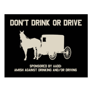 dont drink or drive postcards
