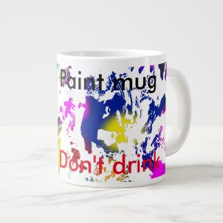 Don't drink paint kids large coffee mug