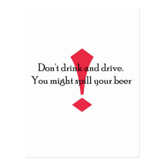 Dont Drink Post Cards