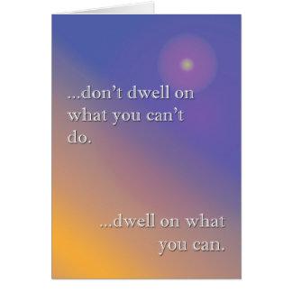 Don't dwell greeting card