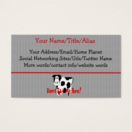 Don't Eat Me, Bro! Business Card