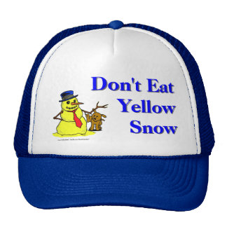 Don't Eat Yellow Snow Hats