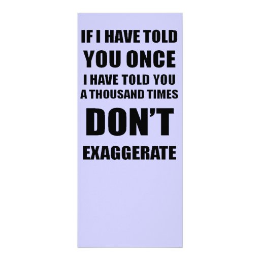 Don't Exaggerate Rack Card Template