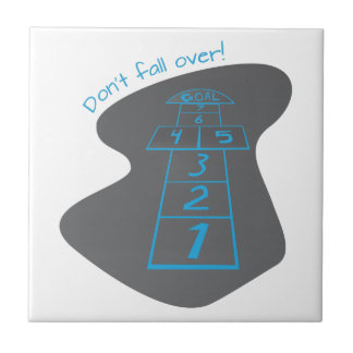 Don't Fall Over! Small Square Tile
