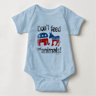 Don't Feed the Animals Party Politics Baby Bodysuit
