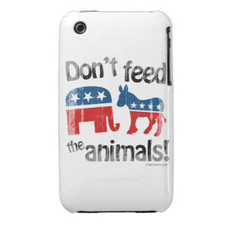 Don't Feed the Animals Party Politics iPhone 3 Case-Mate Cases