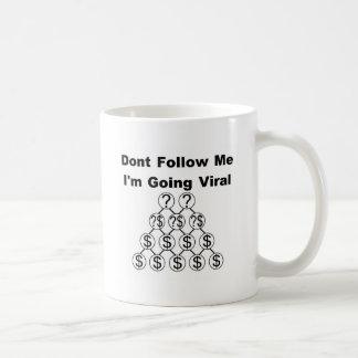 Dont Follow Me I'm Going Viral Basic White Mug