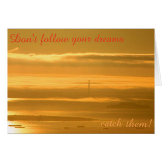 Don't follow your dreams - CATCH them! Card