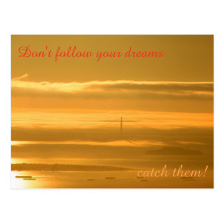 Don't follow your dreams - CATCH them! Postcard