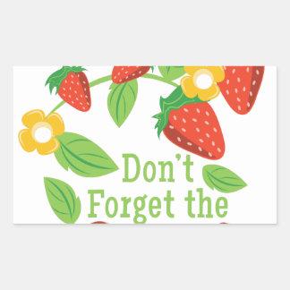 Dont Forget Cream Rectangular Sticker