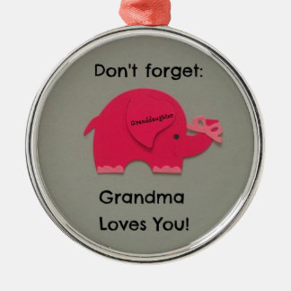 Don't forget: Grandma Loves You! Granddaughter Christmas Ornament
