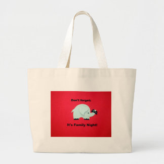 Don't forget: It's family night Jumbo Tote Bag