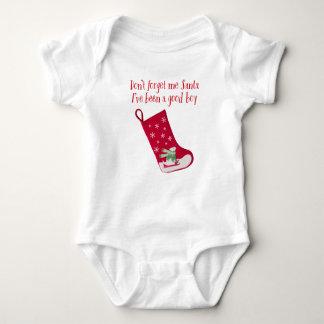 Don't forget me Santa, I've been a good boy Baby Bodysuit