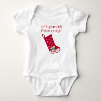 Don't forget me Santa, I've been a good girl Baby Bodysuit